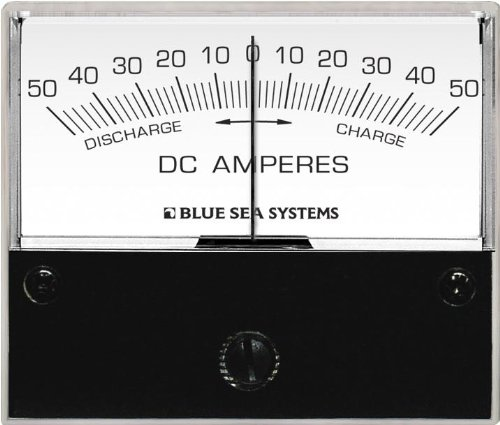 Blue Sea Systems 50-0-50A DC Ammeter with Shunt