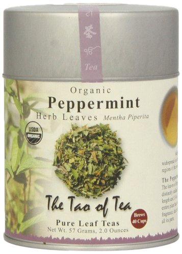 The Tao of Tea, Peppermint Herbal Tea, Loose Leaf, 2 Ounce Tin (Leaves Peppermint Tea Tea)