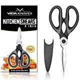 Premium Heavy Duty Kitchen Scissors; Dishwasher Safe Ultra Sharp Multi Purpose Stainless Steel Kitchen Shears