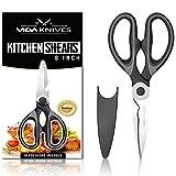 Premium Heavy Duty Kitchen Scissors; Dishwasher Safe Ultra Sharp Multi Purpose Stainless Steel Kitchen Shears
