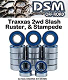 Traxxas 2wd Rustler - Stampede - Slash - Skully - Cranium - Monster Jam Series Complete Bearing Kit Set - VXL & XL5 (19 Bearings) DSM Off-Road