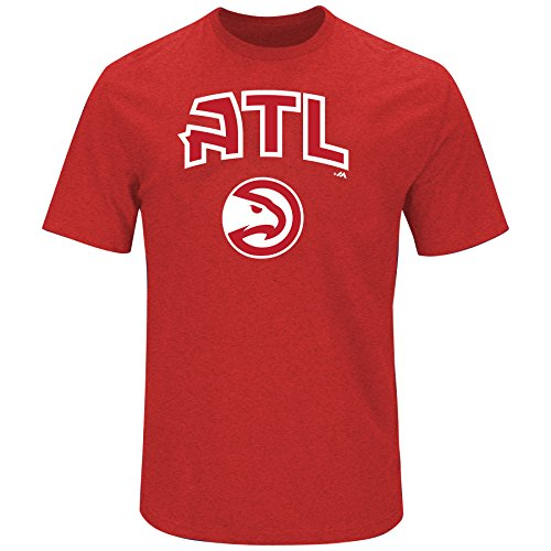 NBA Atlanta Hawks Adult men NBA S/Team Heather Tee,3XT,Red/Heather
