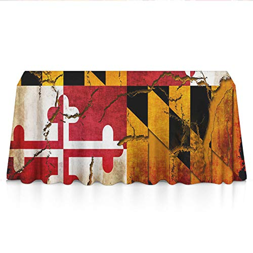 Maryland Paper Holder Clip (GLORY ART Waterproof Tablecloth,Vintage Wooden Maryland Flag,Large Dust-Proof Vinyl Table Cloth Cover, Great for Dinner,Wedding,Patio,Parties,Holiday Dinner,Buffet Table& More(60