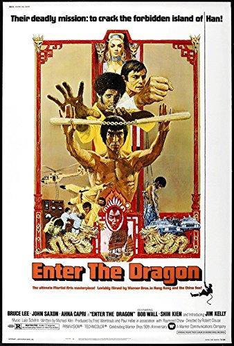 Enter the Dragon Fridge Magnet 3.5 x 5 Bruce Lee Magnetic Movie Poster Canvas Print