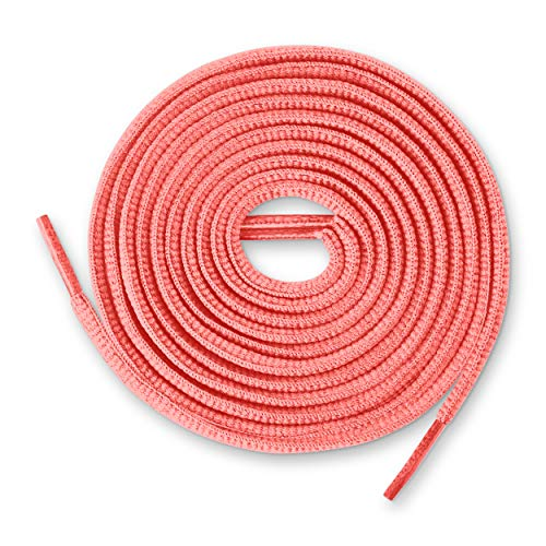 Oval Lace - Lace Kings Oval Shoelaces (Neon Pink - 36in)