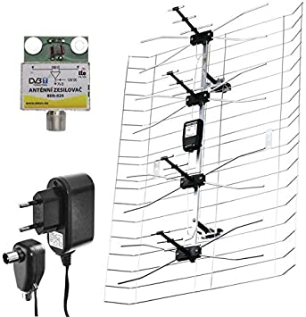Emos ASP-25 - Antena (UHF,VHF, 40°, 30°, 25 dB, 170-860 MHz ...