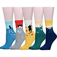 5pares de lindos animales–Las niñas Casual cómodo algodón Crew–Calcetines para mujer