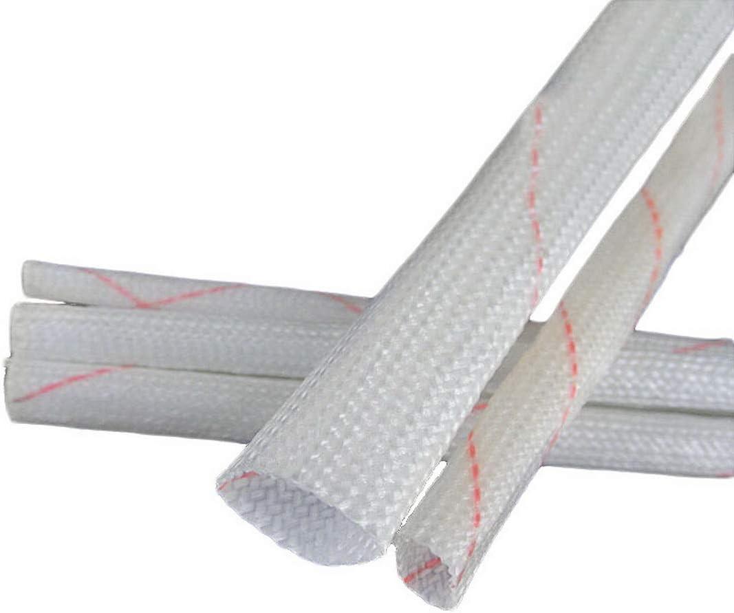 Alta Temperatura Robluee Aislante protecci/ón t/érmica Fibra de Vidrio Trenzada 5 Manguitos aislantes de Polietileno para Cable el/éctrico ign/ífugo