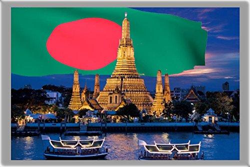 DHAKA FRIDGE MAGNET, THE CAPITAL CITY OF BANGLADESH REFRIGERATOR MAGNET -  6160598346875