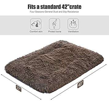 SIWA MARY Dog Bed Mat Crate Pad Anti Slip Mattress 30 36 42 Kennel Pad Washable for Large Medium Small Dogs and Cats