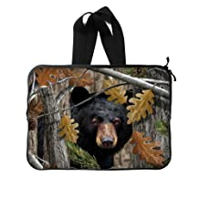 """Fashion Design Black Bear Family In The Forest Sleeves for Laptop,Macbook Air,Macbook Pro,Notebook Computer 13"""" (Twin Sides)"""