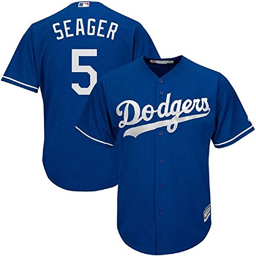 Majestic Corey Seager Los Angeles Dodgers MLB Youth Blue Alternate Jersey (Youth Small 8)