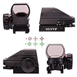 Sunvp Tactical Optical Red and Green Dot Refle Gun Sight 4 Different Reticles