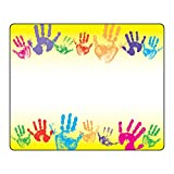 Trend Enterprises, Inc. T-68005BN Rainbow Handprints Terrific Labels, 36 per Pack, 12 Packs