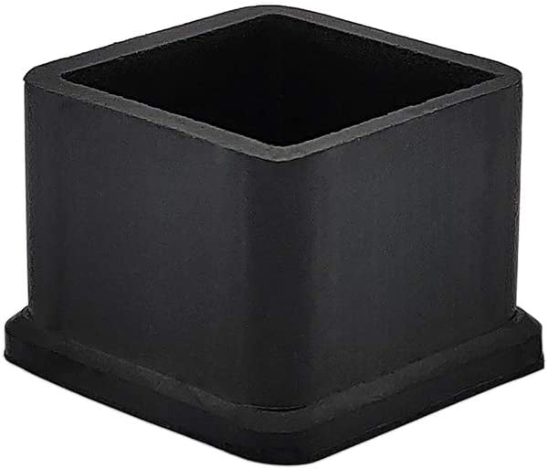 Flyshop Square Anti-Slip Rubber Leg Tips Chair Leg Caps Furniture Floor Protectors 1-3/16 Inch x 1-3/16 Inch (30 x 30mm) Black 10Pcs