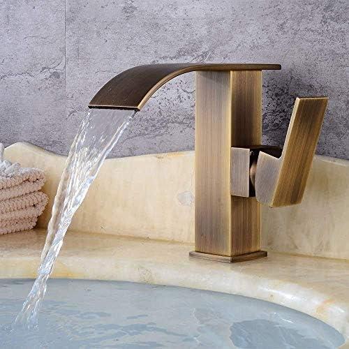 水タップ便利な真鍮アンティークの蛇口ヨーロッパのレトロな浴室の滝ホットとコールドの水栓、高速排水、レンチスイッチ、バルブポートの直径3.5cm実用的なキッチンバスルーム用品キッチンバスルーム用品