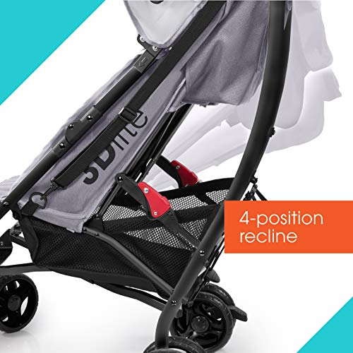 51a6BAm7mSL - Summer 3Dlite Convenience Stroller, Gray – Lightweight Stroller With Aluminum Frame, Large Seat Area, 4 Position Recline, Extra Large Storage Basket – Infant Stroller For Travel And More