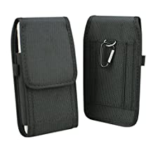 iPhone 7/8 Plus Holster, aubaddy Nylon Case Pouch Holster with Belt Loop for iPhone 6/6s Plus 5.5 inch, Huawei Mate 7/8/9, Google Nexus 6P, Samsung Galaxy Note 3/4/5 (Black)