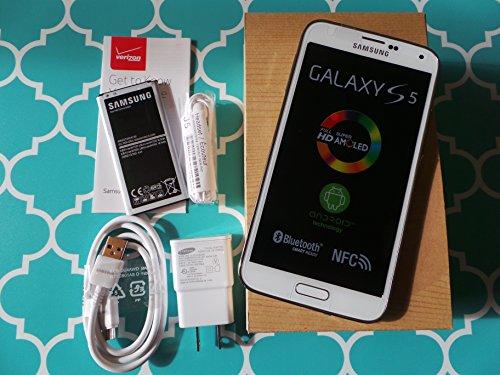 Straight Talk Samsung Galaxy S5. Use Verizon Towers on Straight Talk. (White) (Galaxy Cell Phones Straight Talk)