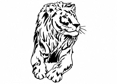 Wandtattooladen Wandtattoo - Löwe Größe:100x95cm Farbe: Schablone