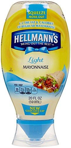 Hellmann's Light Mayonnaise, Squeeze - 20 oz