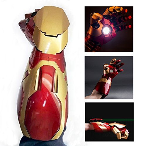 Electronically Iron Man MK43 Wearable Arc FX Wrist Armor Gauntlet 1:1 Replica (Iron Man Hands)