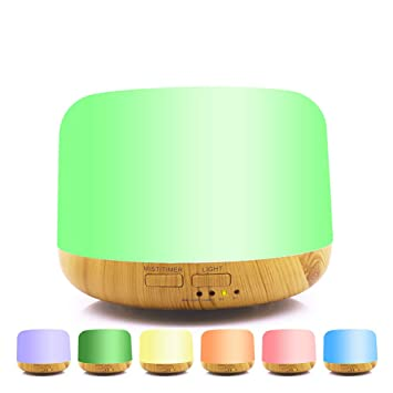 LED 7 Colour Changing Aroma Essential Oil Diffuser Air Purifier Humidifier