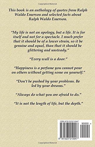 Ralph Waldo Emerson Quotes Facts Blago Kirov 9781523210947