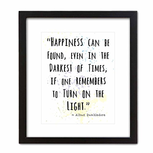 Wall Art Print by ArtDash ~ Albus Dumbledore Inspirational Quotes: 8 ?10 w/ Black