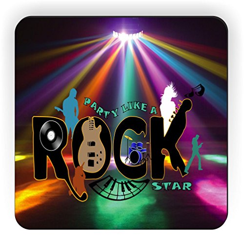 Rikki Knight Party Like a Rock Star Design Square Fridge Magnet