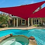 E.share 20'x20'x20' Triangle Red Sun Shade Sail Perfect UV Block for Outdoor Patio Garden