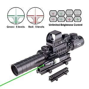df071c28bb06 Amazon.com   Pinty Rifle Scope 3-9x32EG Rangefinder Illuminated ...