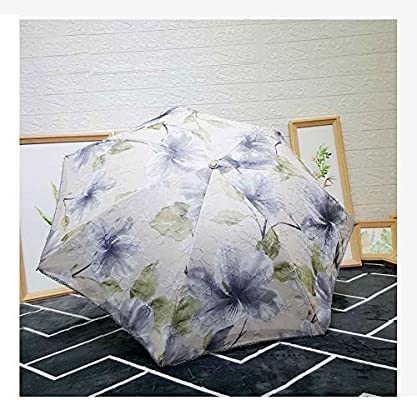 YSLJH Lightweight Travel Umbrella Automatic Folding Umbrella Ladies Sun Umbrella UV Protection Windproof Students Out Portable Umbrella