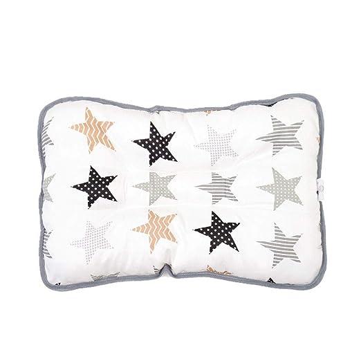 YQ&TL Almohada de algodón para niños Almohada para bebé Almohada de Siesta de jardín de Infantes (1-6 años de Edad) Cojín ortopédico para Dormir sin ...