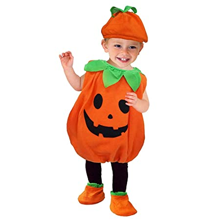 Liumintoy Halloween Calabaza Disfraz para Bebé Niños Disfraz de ...
