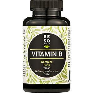 Fort Complexe de Vitamine B BeSoHappy® (180 capsules pendant 6 mois) – Vitamines B12, B1, B2, B3, B4, B5, B6, Biotine…