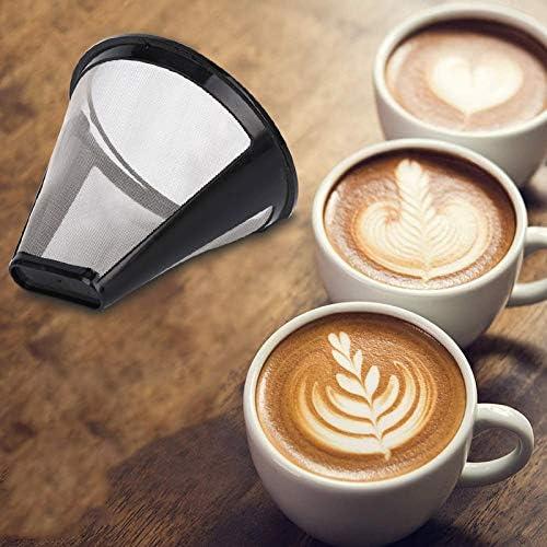 reutilizables Leobtain Filtros de caf/é de acero inoxidable gotero de caf/é accesorios de caf/é para el hogar y la oficina hecho a mano