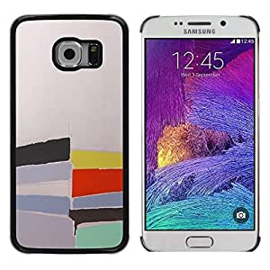 LECELL--Funda protectora / Cubierta / Piel For Samsung Galaxy S6 EDGE SM-G925 -- Pastel Abstract Watercolor Painting --