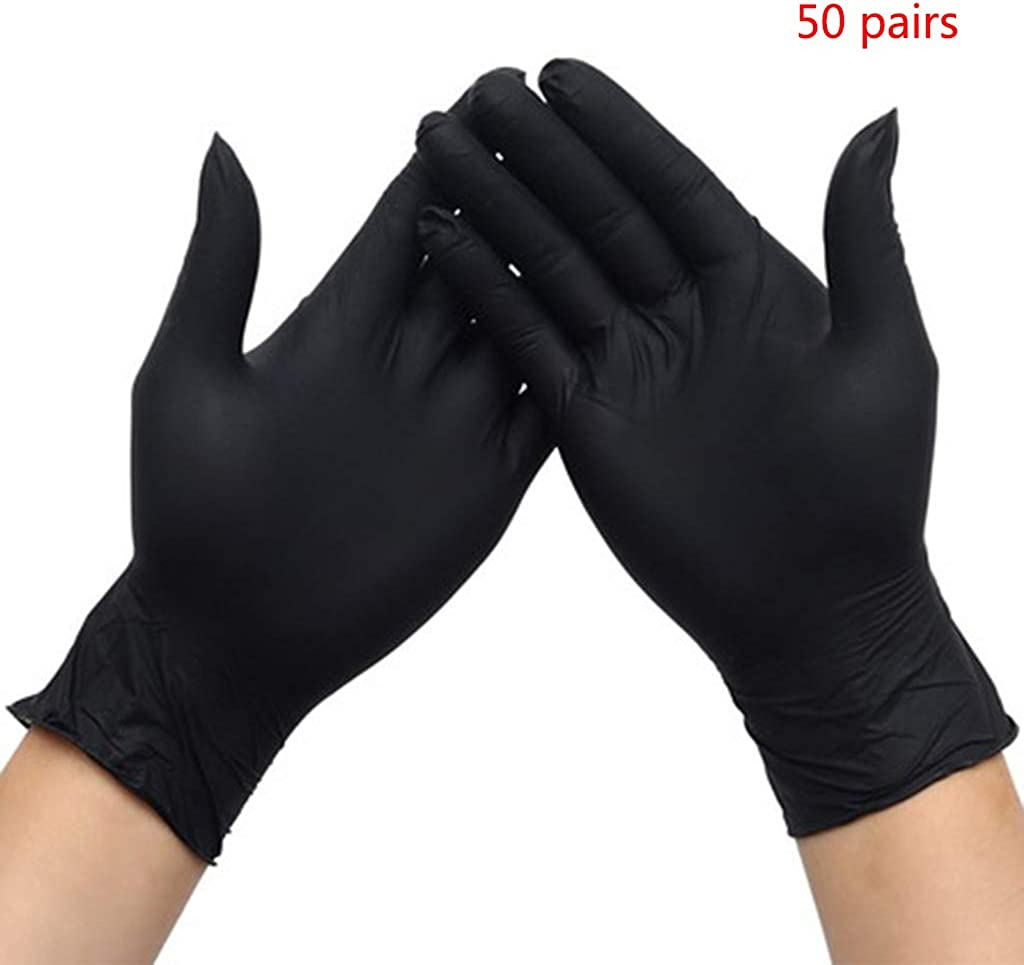 Exam Grade Working Protective Gloves Dsxnklnd 50 Pairs Rubber Latex Free Disposable Nitrile Gloves
