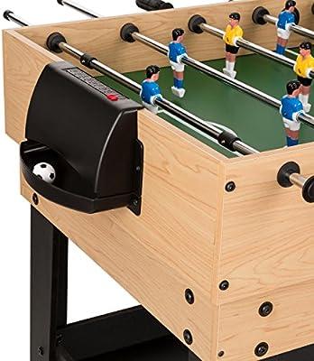 Oneconcept Game-Star - Mesa de Juegos , Mesa multifunción , Incluye 37 Juegos Diferentes , Futbolín , Patas de la Mesa con Altura Regulable , Reglas de Juego detalladas , Medidas: 105