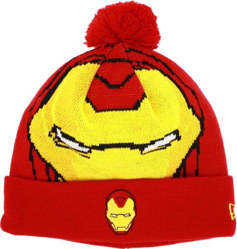 Iron Man Big Face Woven Biggie Knit - Ironman Hats