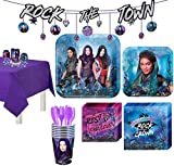 Party City Super Descendants 3 Tableware Supplies for 8 Guests, with Table Cover, Banners and More