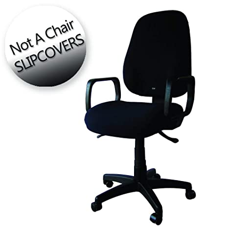 Remarkable Office Chair Slipcover Adjustable Washable Seat X The Office Chair Cover Black Machost Co Dining Chair Design Ideas Machostcouk