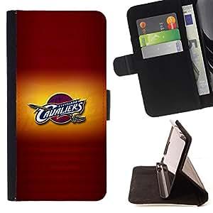- CAVALIER BASKETBALL - - Prima caja de la PU billetera de cuero con ranuras para tarjetas, efectivo desmontable correa para l Funny HouseFOR Samsung Galaxy S5 Mini, SM-G800