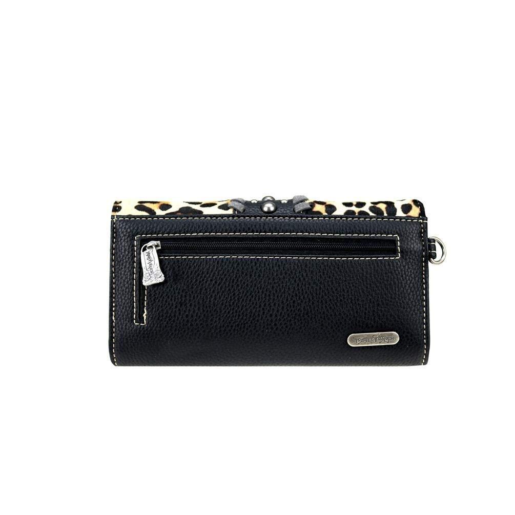 34ba690b0d12 Trinity Ranch Cheetah Leopard Tassel Handbag Purse Wristlet Wallet ...