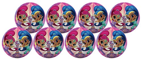 Hedstrom Shimmer & Shine Playball Party Pack, Size Small, 8 Balls by Hedstrom