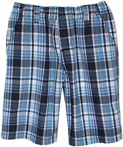 9fe73cbc5 Daniel Jacob Big Boys  Husky Navy Plaid Shorts Full Elastic