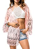 Spmor Women's Chiffon Boho Kimono Cardigan Beach Cover Shawl,one Size,04
