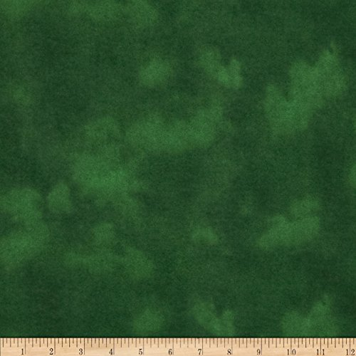 (A.E. Nathan 108in Wide Flannel Mottled Green Fabric By The)