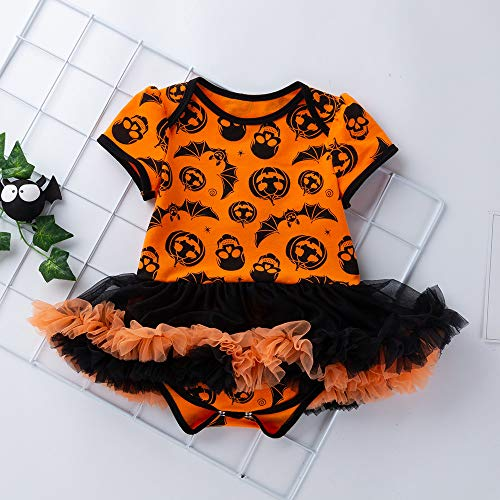 Giallo Child Decorazione Lace Dress Costume Lace Party Neonate Stampa Angelof Halloween Baby Bow wUqBA7AXx